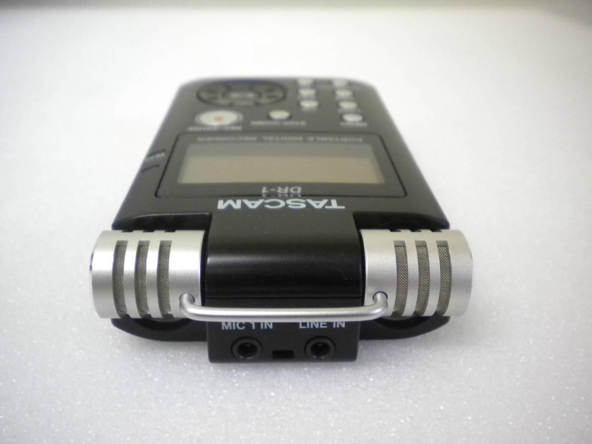 う815 TASCAM DR-1 PORTABLE DIGITAL RECORDER デジタルレコーダー ジャンク 部品取りに_画像3