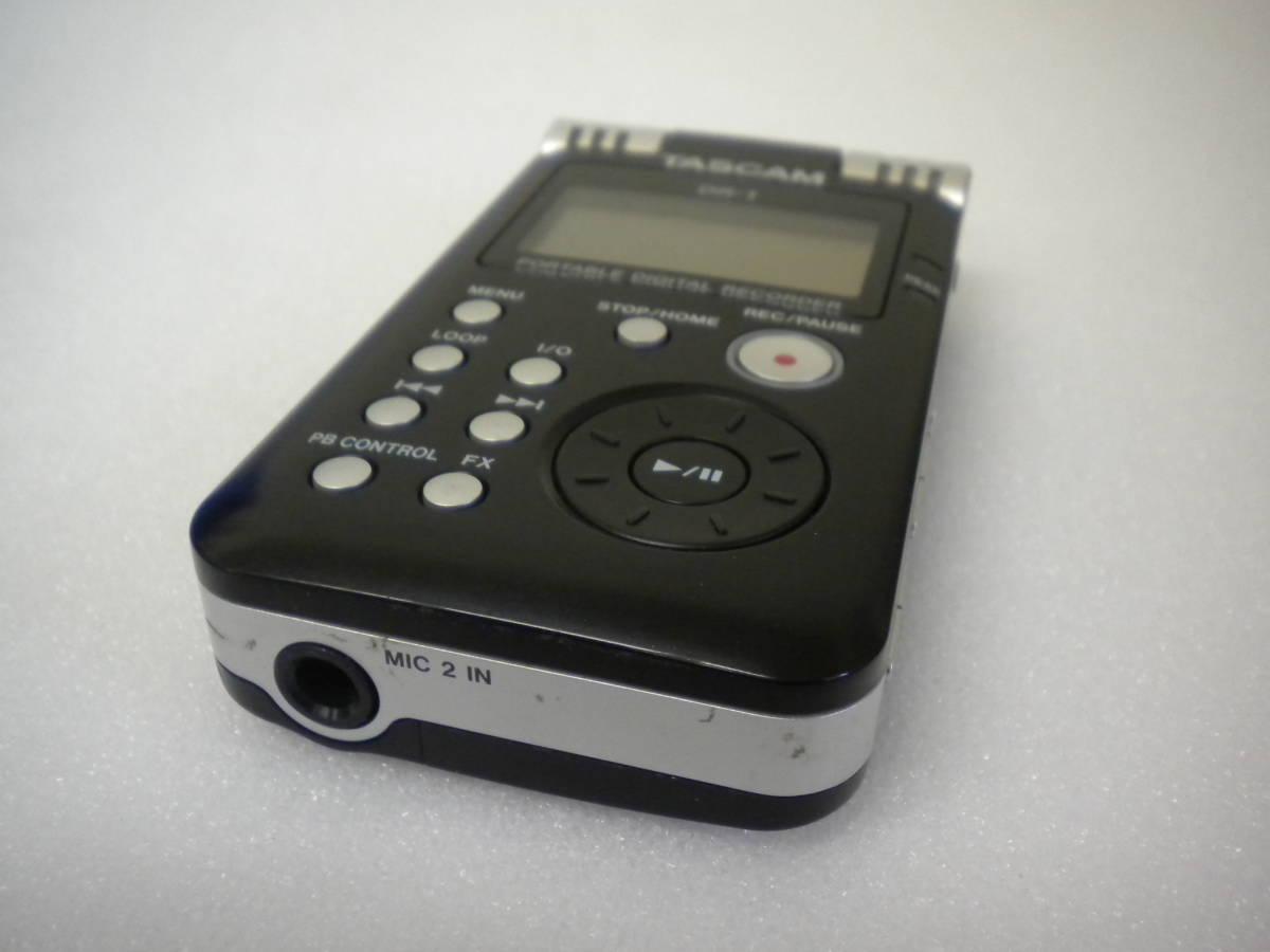 う815 TASCAM DR-1 PORTABLE DIGITAL RECORDER デジタルレコーダー ジャンク 部品取りに_画像4