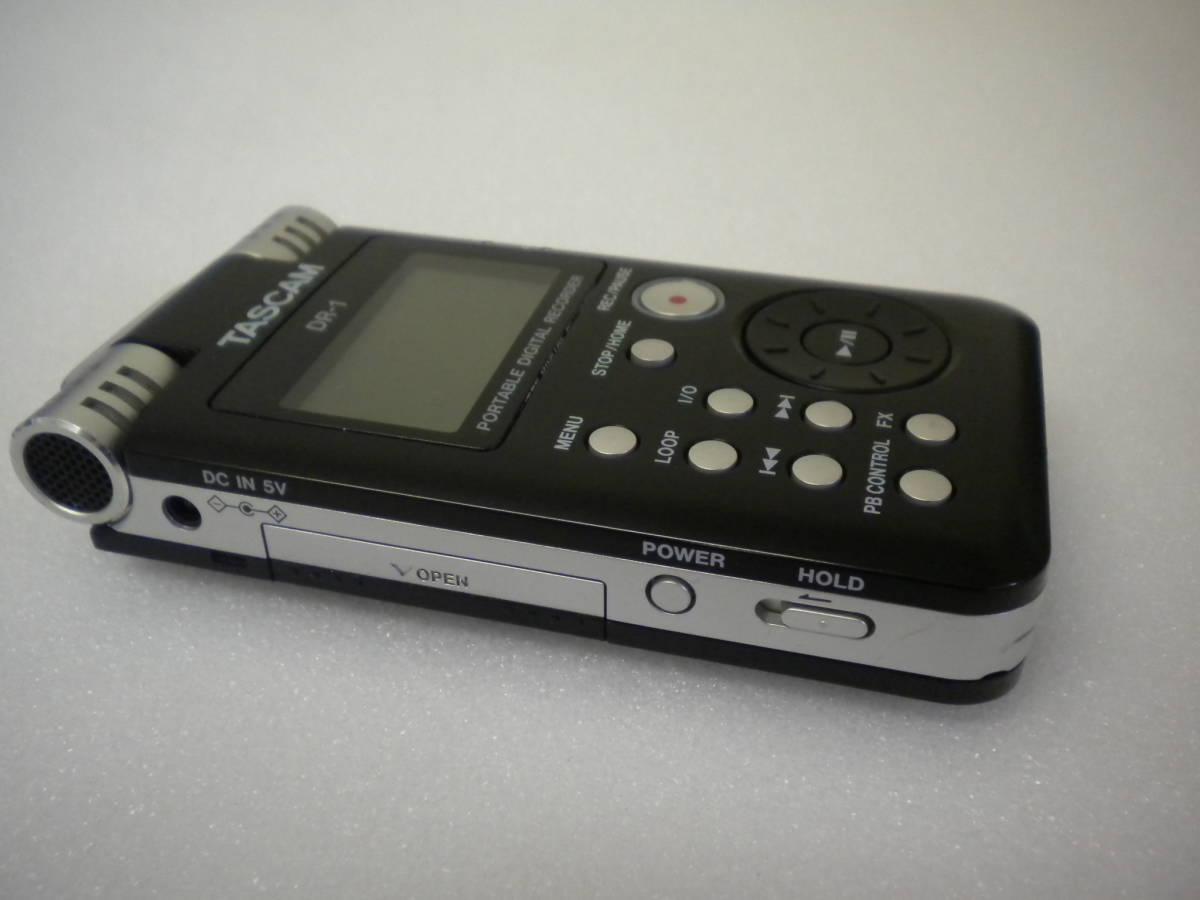 う815 TASCAM DR-1 PORTABLE DIGITAL RECORDER デジタルレコーダー ジャンク 部品取りに_画像6