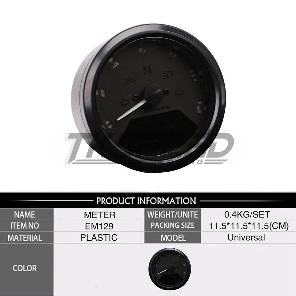 ★8-18 V 汎用液晶デジタルタコメータスピードメーターオドバイク 12000 2,4 シリンダー_画像3