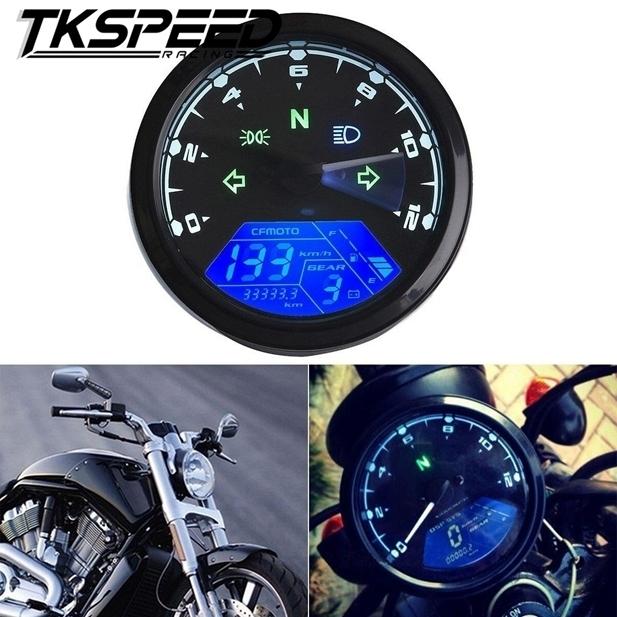 ★8-18 V 汎用液晶デジタルタコメータスピードメーターオドバイク 12000 2,4 シリンダー