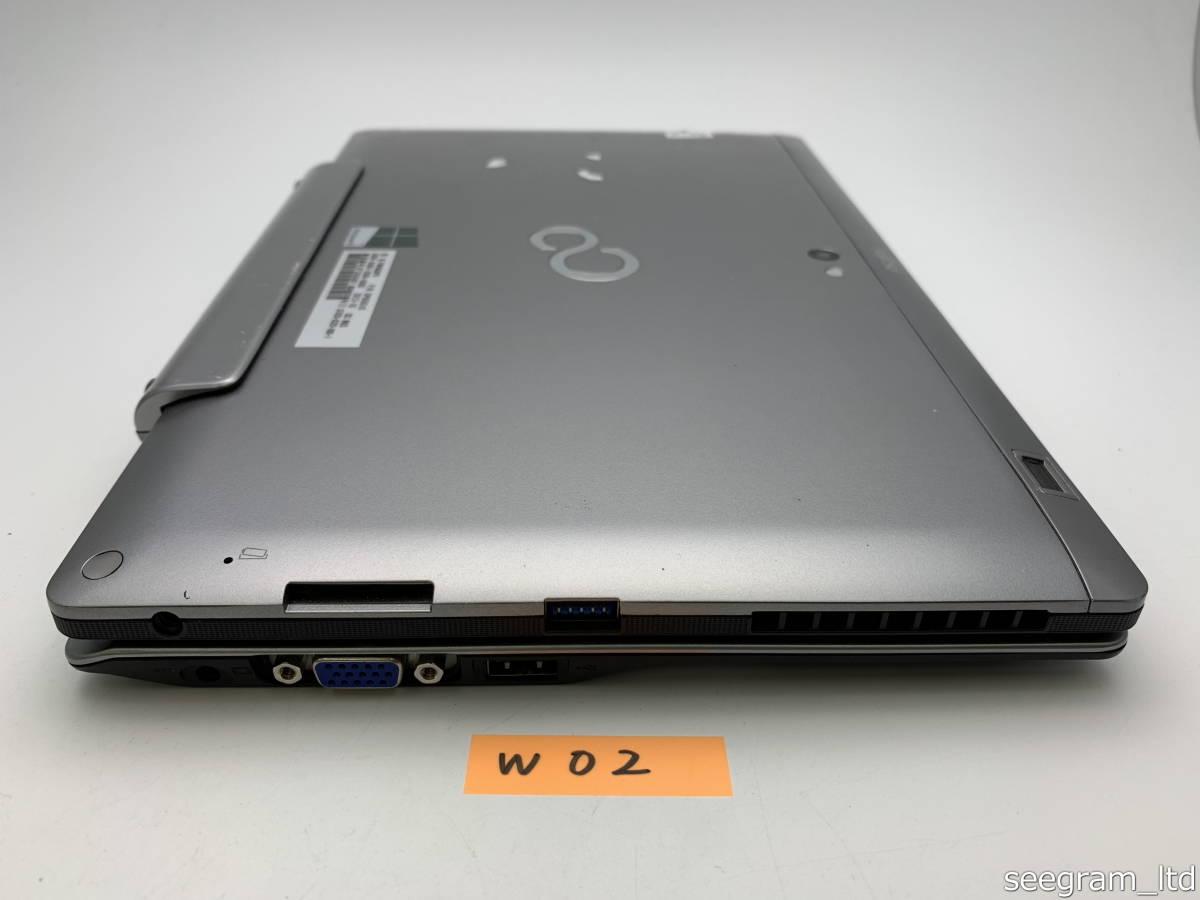 【ジャンク】通電確認済 富士通 STYLISTIC Q702/G 専用キーボードドッグセット windowsタブレットPC Core i5 メモリ4GB 64GB SSD W02_画像5