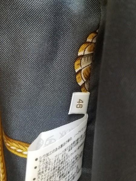 高級! HERNO ヘルノ レディース ロングコート カシミヤ100% シルク100% 裏地総柄 イタリア製 46 ブラック/黒色 美品(G2879-1)_画像8