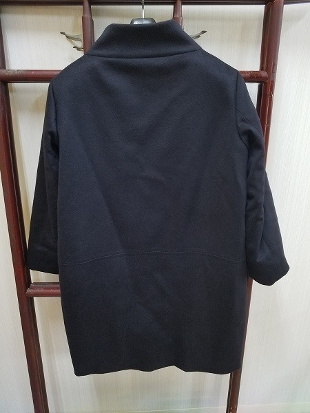 高級! HERNO ヘルノ レディース ロングコート カシミヤ100% 裏地ダウン イタリア製 44 ネイビー/紺色 超美品(G2879-3)_画像7