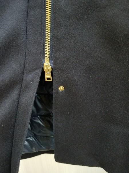 高級! HERNO ヘルノ レディース ロングコート カシミヤ100% 裏地ダウン イタリア製 44 ネイビー/紺色 超美品(G2879-3)_画像6