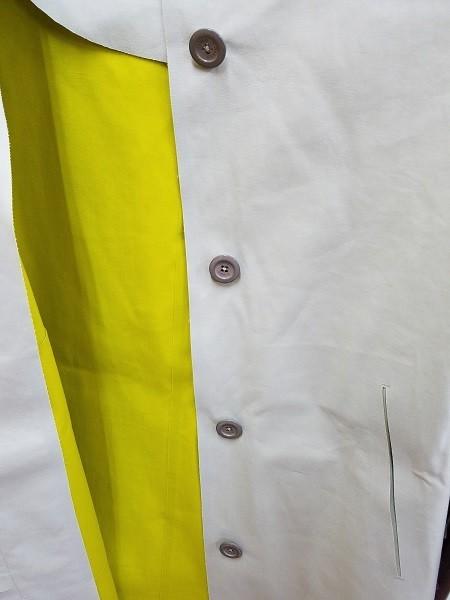 高級! HERNO ヘルノ レディース ノーカラー ロングコート コットン イタリア製 44 ホワイト/白色系 超美品(G2879-12)_画像10
