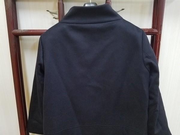 高級! HERNO ヘルノ レディース ロングコート カシミヤ100% 裏地ダウン イタリア製 44 ネイビー/紺色 超美品(G2879-3)_画像8