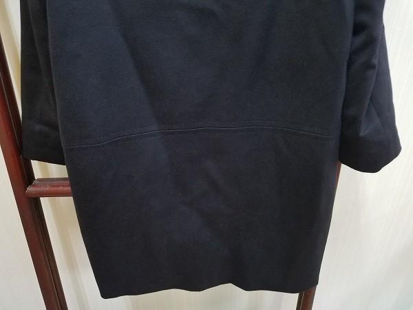 高級! HERNO ヘルノ レディース ロングコート カシミヤ100% 裏地ダウン イタリア製 44 ネイビー/紺色 超美品(G2879-3)_画像9