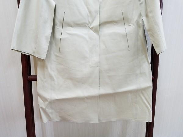 高級! HERNO ヘルノ レディース ノーカラー ロングコート コットン イタリア製 44 ホワイト/白色系 超美品(G2879-12)_画像3