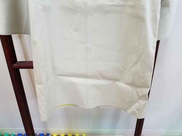 高級! HERNO ヘルノ レディース ノーカラー ロングコート コットン イタリア製 44 ホワイト/白色系 超美品(G2879-12)_画像7