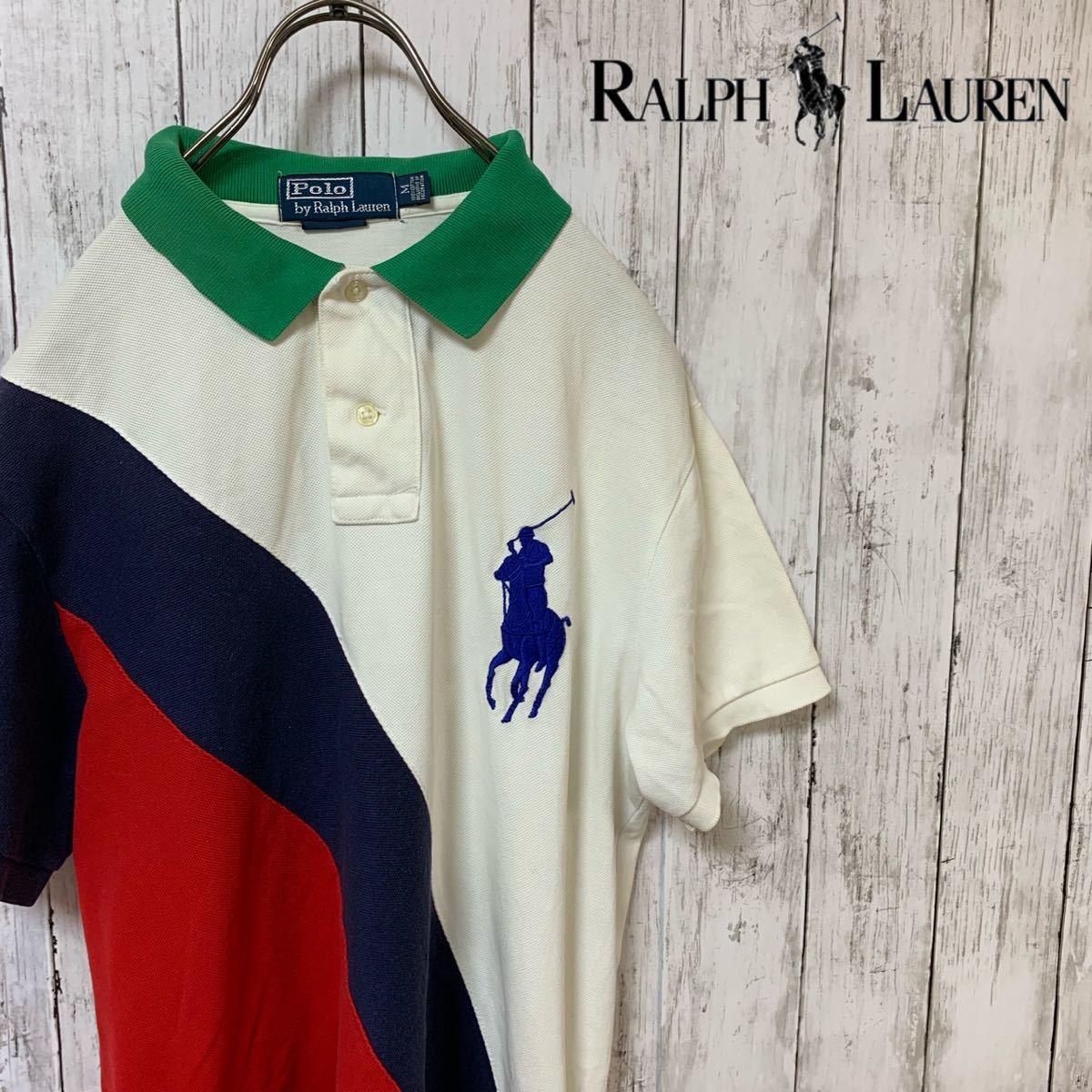 即決 POLO Ralph Lauren ラルフローレン ポロシャツ Mサイズ 中古品 ビッグポニー_画像1
