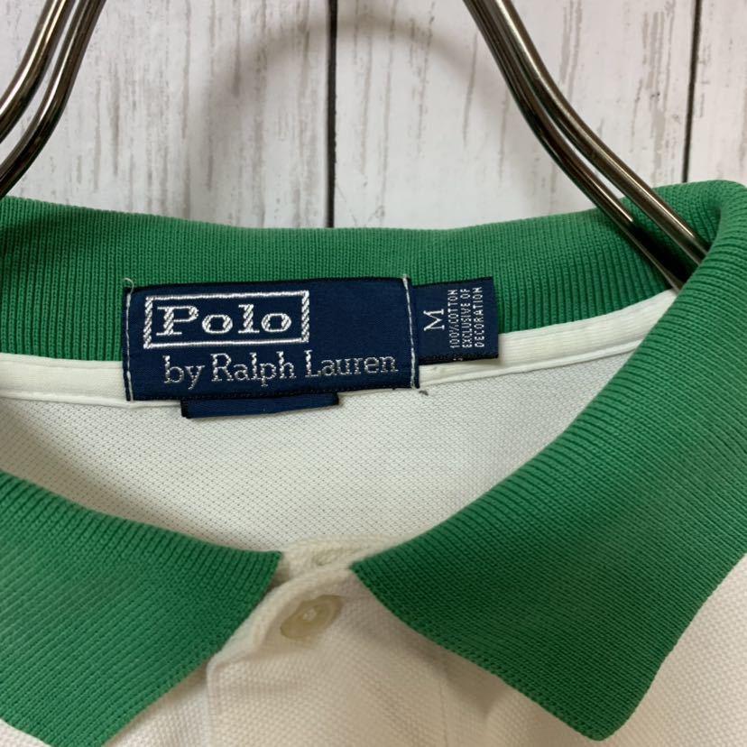即決 POLO Ralph Lauren ラルフローレン ポロシャツ Mサイズ 中古品 ビッグポニー_画像8