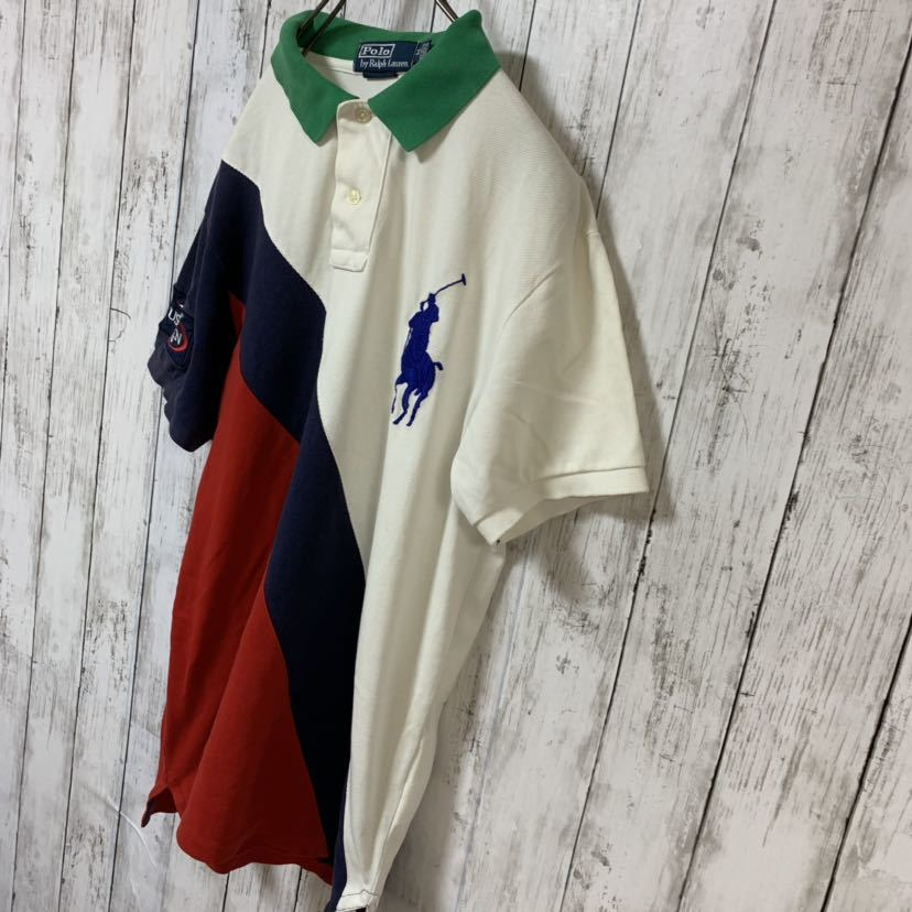 即決 POLO Ralph Lauren ラルフローレン ポロシャツ Mサイズ 中古品 ビッグポニー_画像4