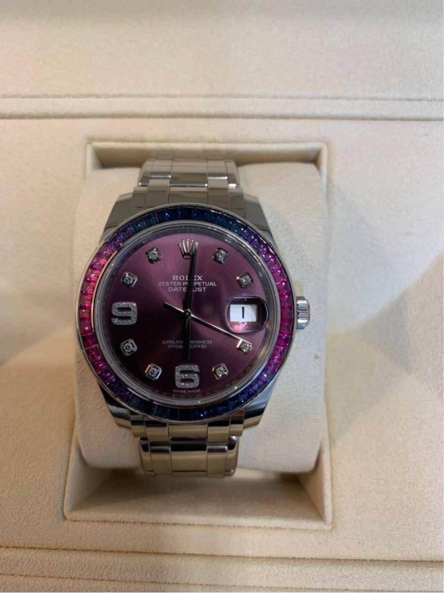 ROLEX メンズ腕時計 86349SAFUBL デイトジャスト パールマスター39_画像6