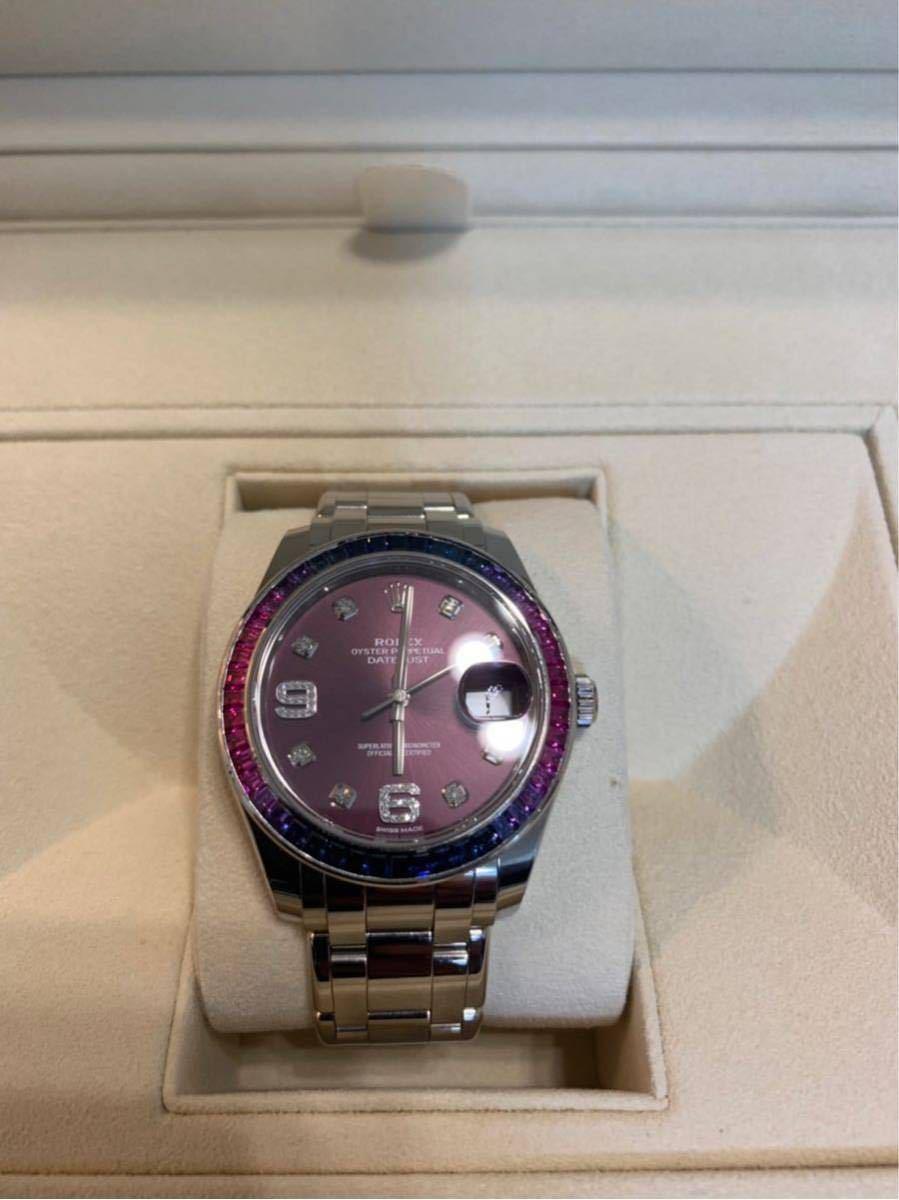 ROLEX メンズ腕時計 86349SAFUBL デイトジャスト パールマスター39_画像5