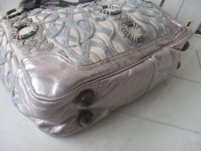 ◆本物 ジャマンピエッシュ レザー装飾キャンパストートバック 美品◆_画像4