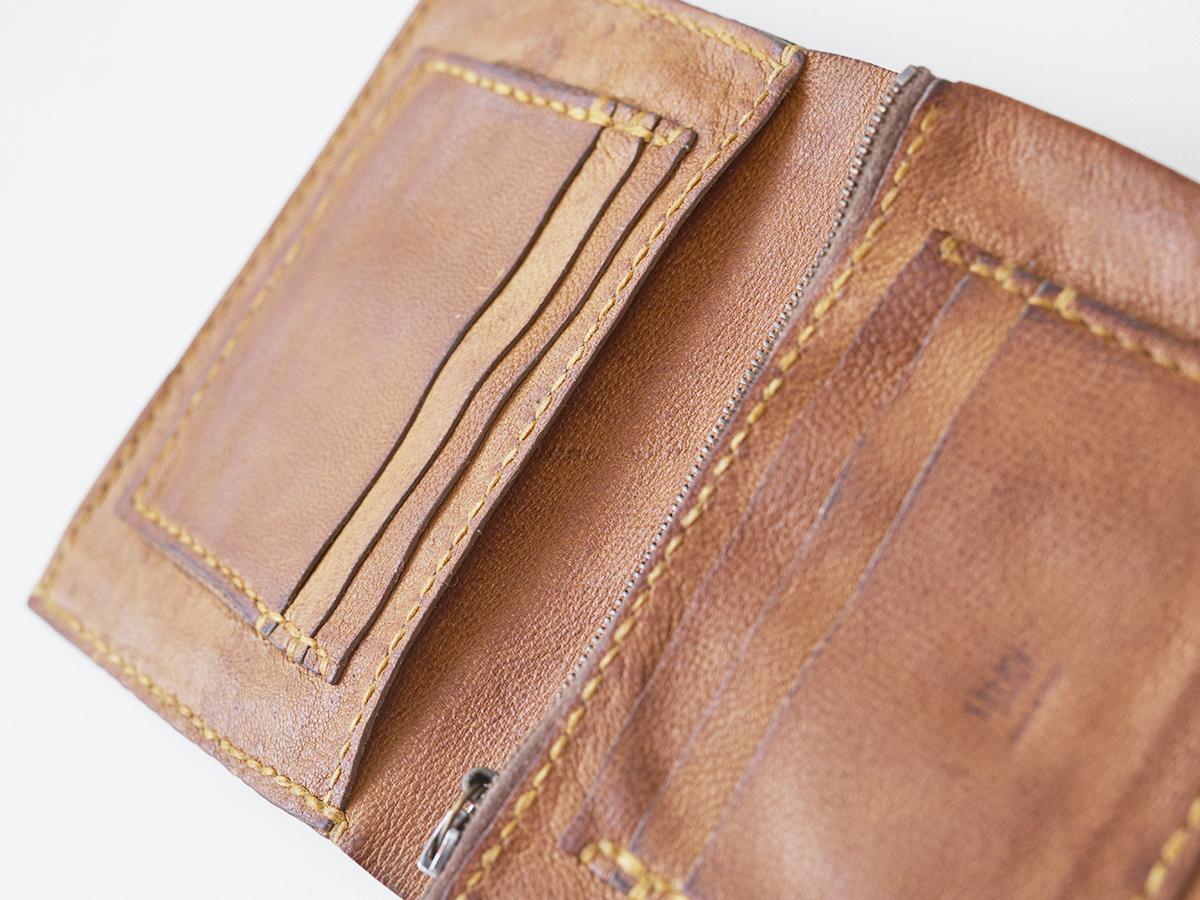 アンリークイール HENRY CUIR レザーウォレット 財布 革 ビンテージ エンリーベグリン_画像7
