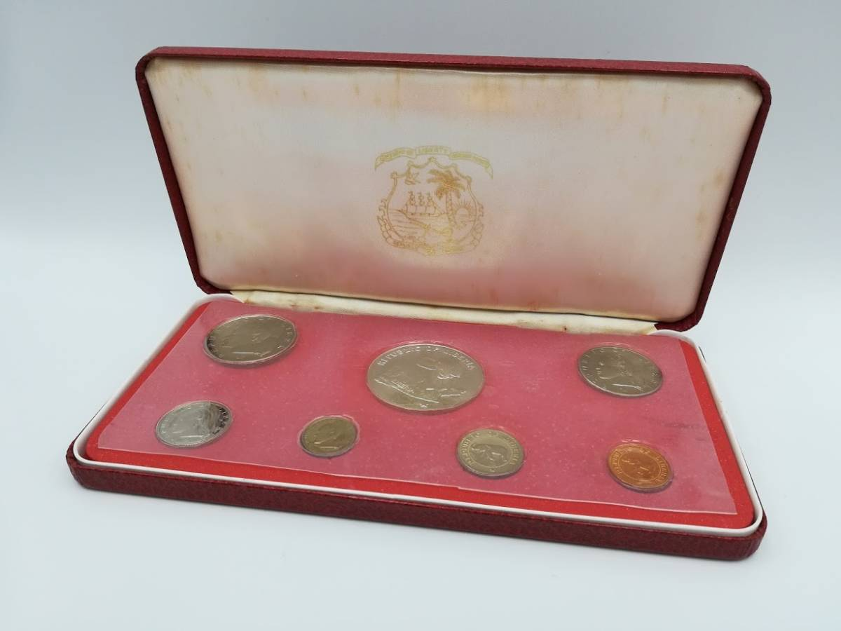 【外国貨幣 プルーフセット】1974年 リベリア共和国貨幣プルーフセット 7種
