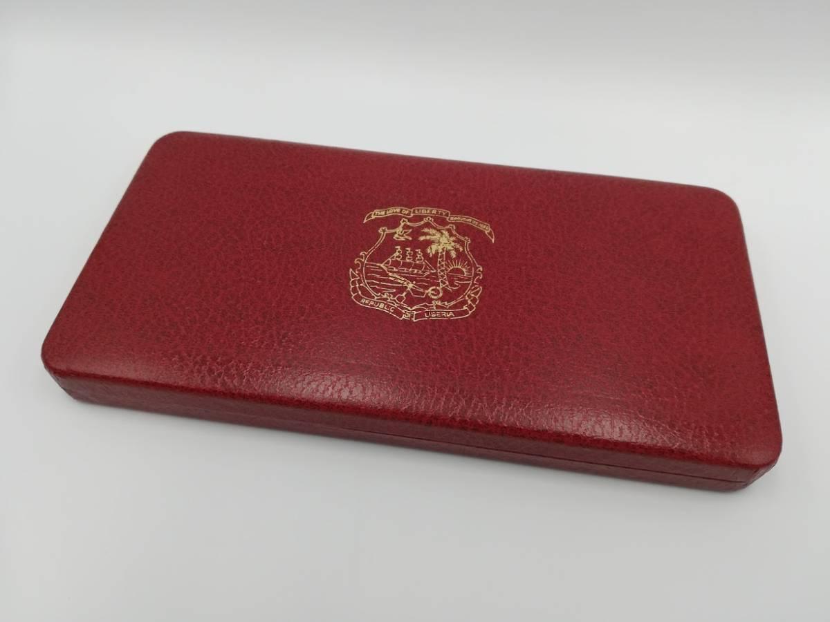【外国貨幣 プルーフセット】1974年 リベリア共和国貨幣プルーフセット 7種_画像4