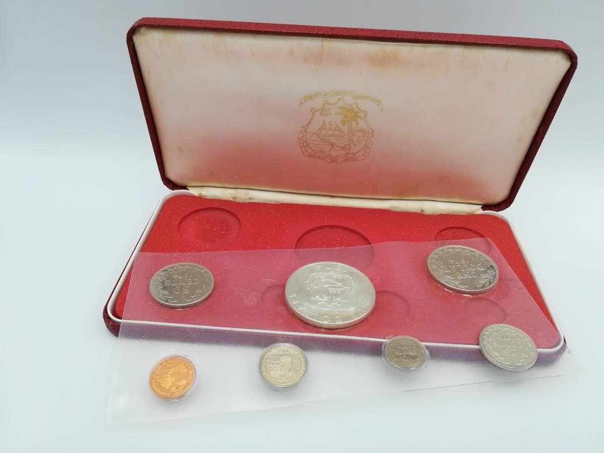 【外国貨幣 プルーフセット】1974年 リベリア共和国貨幣プルーフセット 7種_画像5