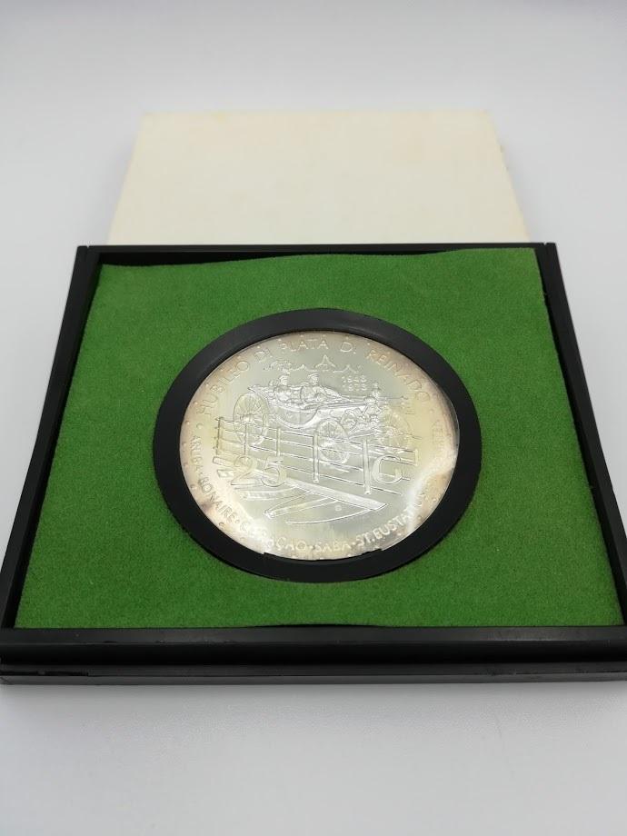 【外国貨幣 プルーフセット】1973 オランダ領アンティルプルーフ銀貨_画像4
