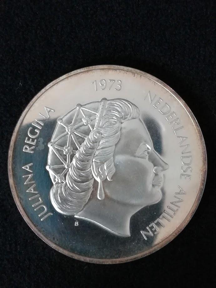 【外国貨幣 プルーフセット】1973 オランダ領アンティルプルーフ銀貨_画像7
