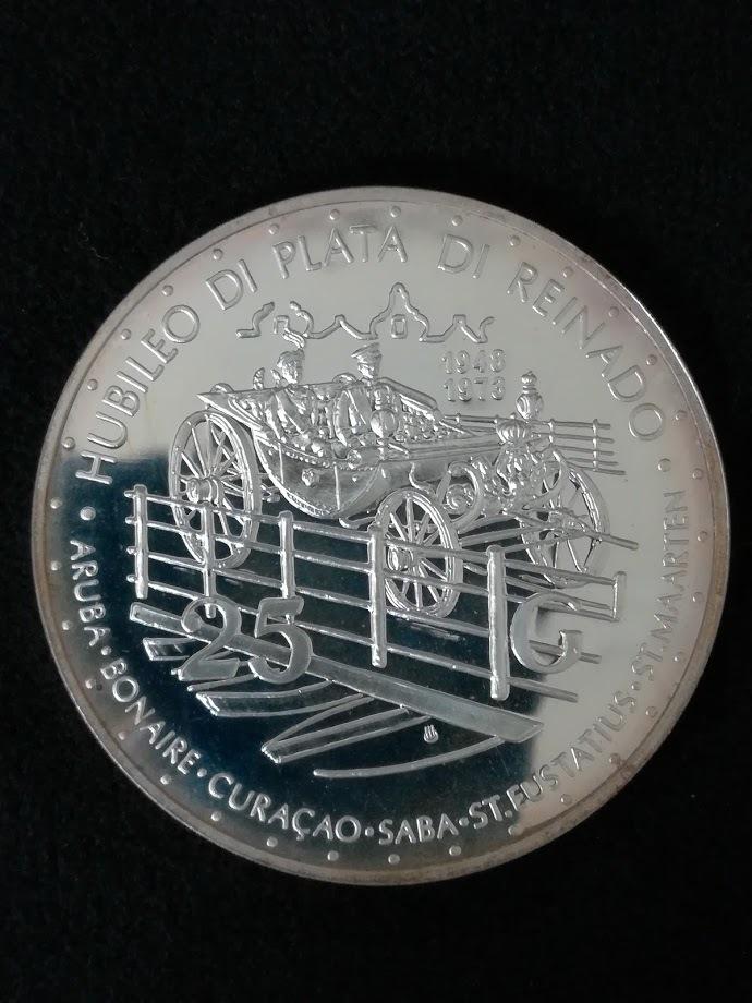 【外国貨幣 プルーフセット】1973 オランダ領アンティルプルーフ銀貨_画像8