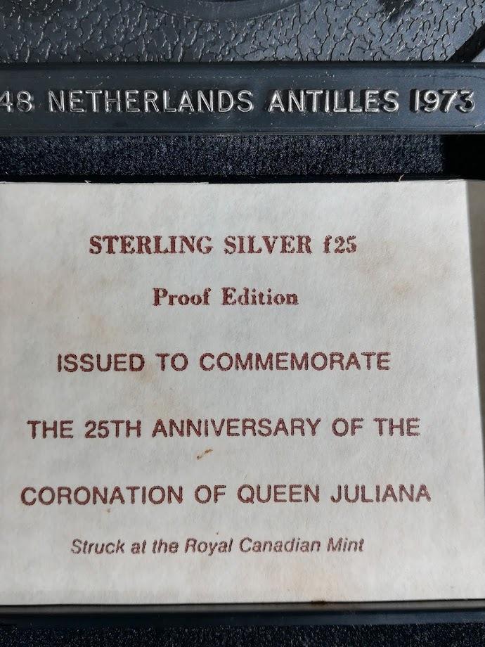 【外国貨幣 プルーフセット】1973 オランダ領アンティルプルーフ銀貨_画像9