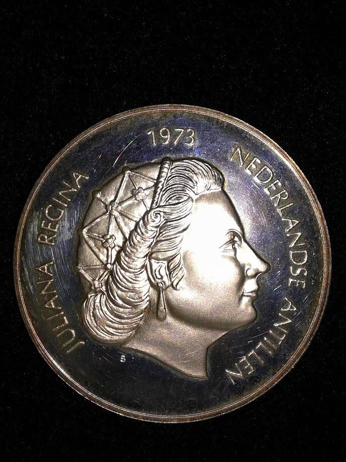 【外国貨幣 プルーフセット】1973 オランダ領アンティルプルーフ銀貨_画像10