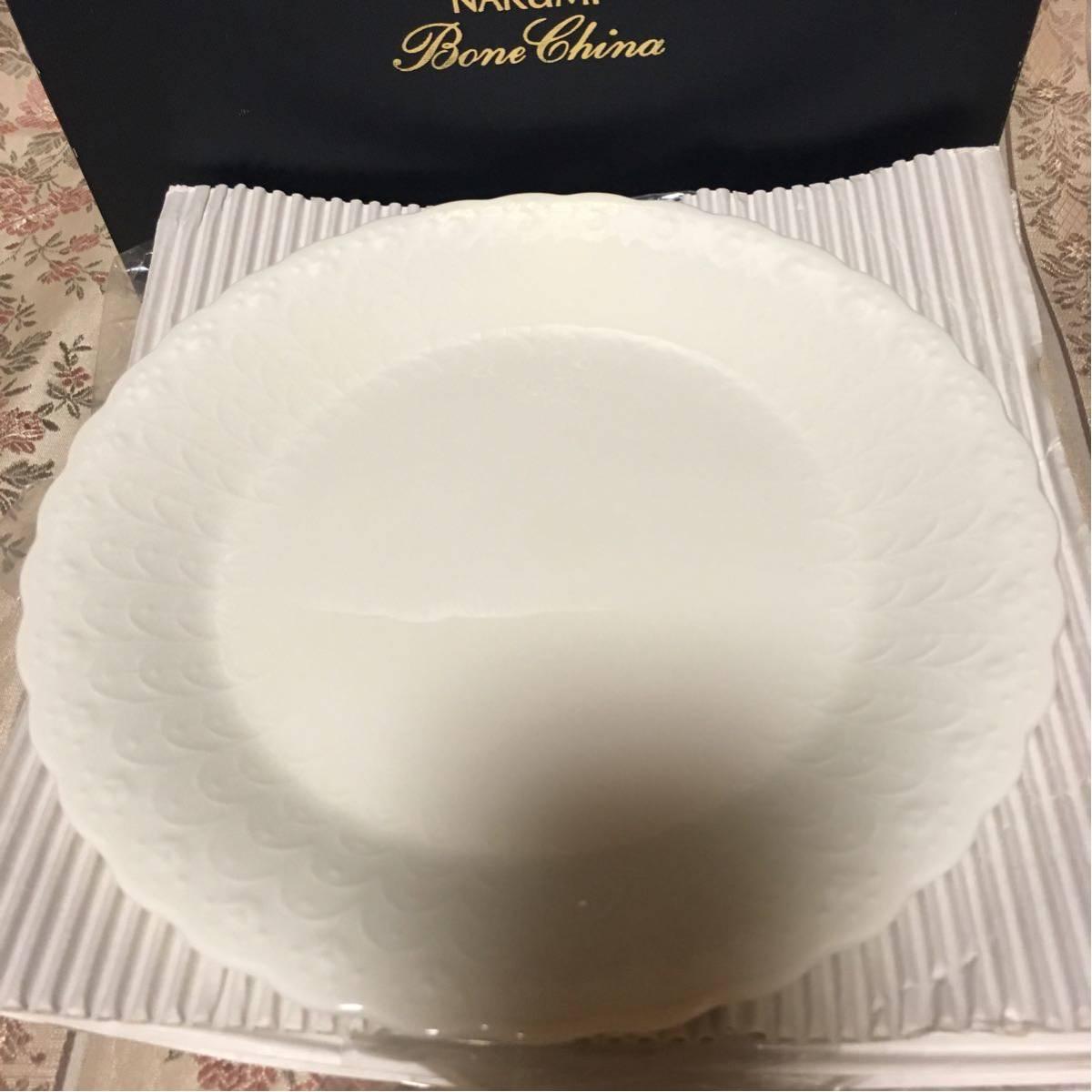 新品★ナルミ シルキーホワイト 19cm プレート ケーキ皿 6枚セット_画像2
