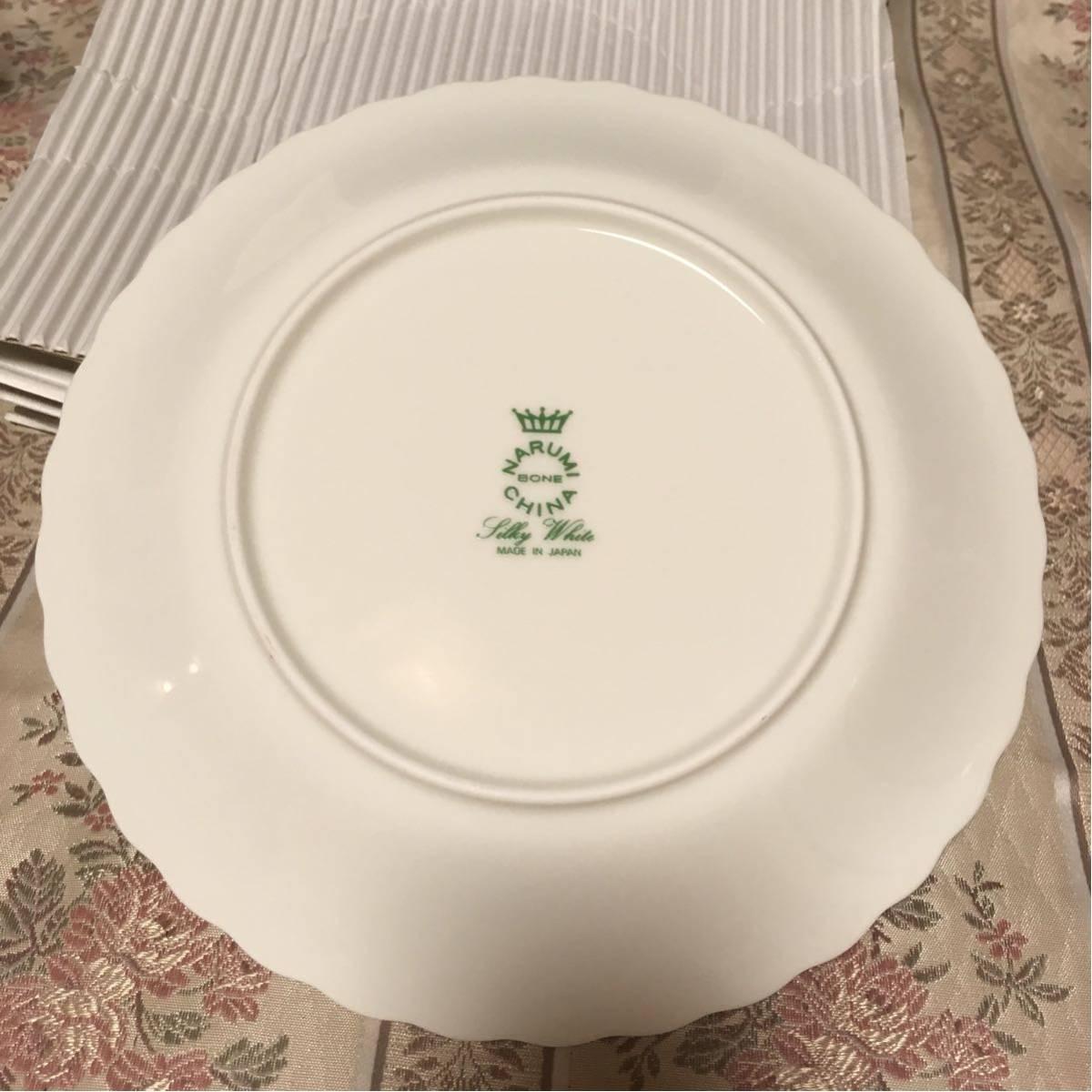 新品★ナルミ シルキーホワイト 19cm プレート ケーキ皿 6枚セット_画像4