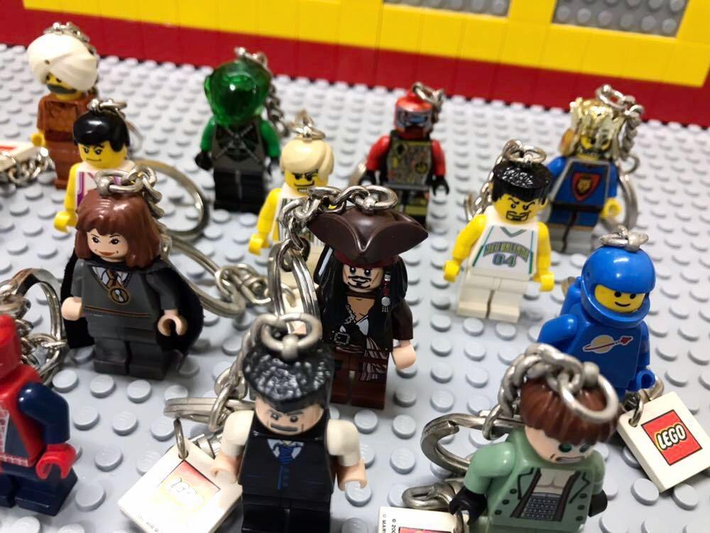 ☆キーホルダー☆ レゴ ミニフィグ 大量16体 スパイダーマン バスケットボール選手 ハリーポッター など LEGO 人形 _画像2