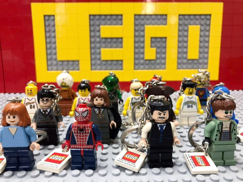 ☆キーホルダー☆ レゴ ミニフィグ 大量16体 スパイダーマン バスケットボール選手 ハリーポッター など LEGO 人形