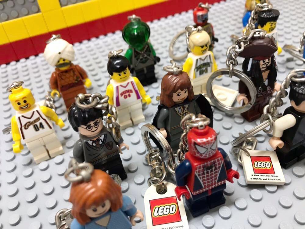 ☆キーホルダー☆ レゴ ミニフィグ 大量16体 スパイダーマン バスケットボール選手 ハリーポッター など LEGO 人形 _画像3