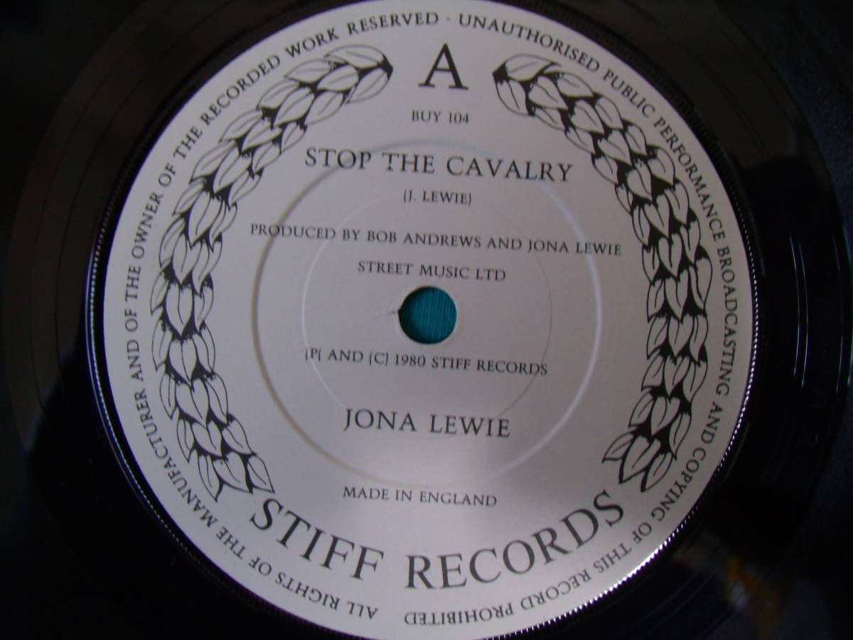 EP●Jona Lewie / Stop The Cavalry UK盤Stiff BUY104 PUB ROCK パブロック_画像3