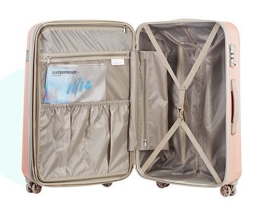 295最上級 スーツケース キャリーケース トラベルバッグ 軽量 静音 頑丈 ファスナー式 TSAロック搭載 海外旅行 小型 20インチ_画像3