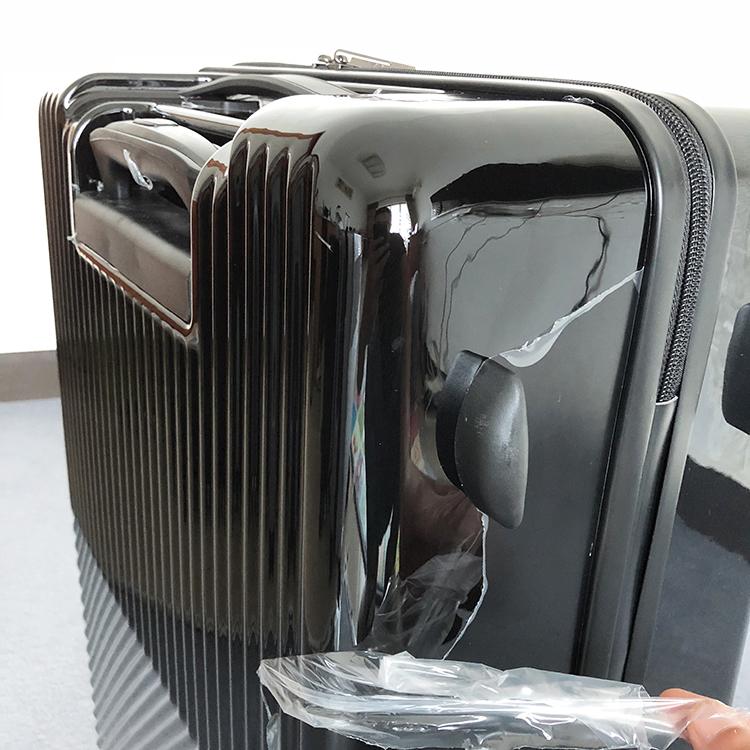 1円スタート☆高級感満載!ビジネス スーツケース キャリーケース 軽量静音 頑丈 ファスナー式 ロック搭載 20インチ ブラック225_画像7