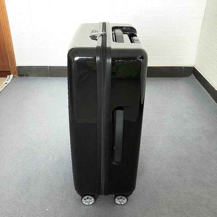 1円スタート☆高級感満載!ビジネス スーツケース キャリーケース 軽量静音 頑丈 ファスナー式 ロック搭載 20インチ ブラック225_画像5