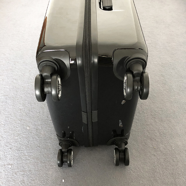 1円スタート☆高級感満載!ビジネス スーツケース キャリーケース 軽量静音 頑丈 ファスナー式 ロック搭載 20インチ ブラック225_画像3