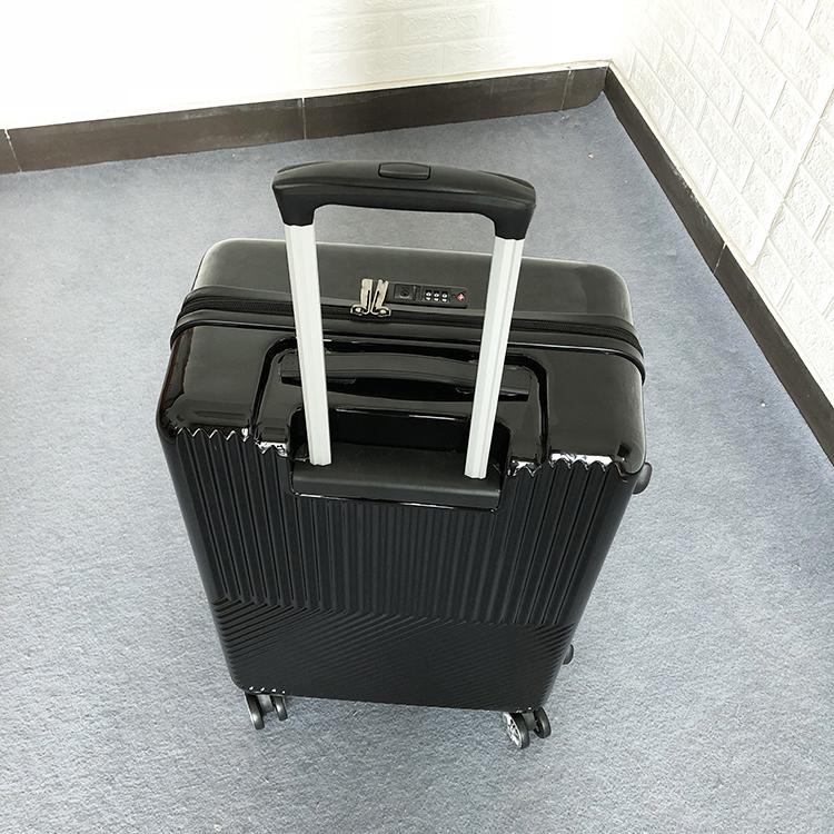 1円スタート☆高級感満載!ビジネス スーツケース キャリーケース 軽量静音 頑丈 ファスナー式 ロック搭載 20インチ ブラック225_画像4