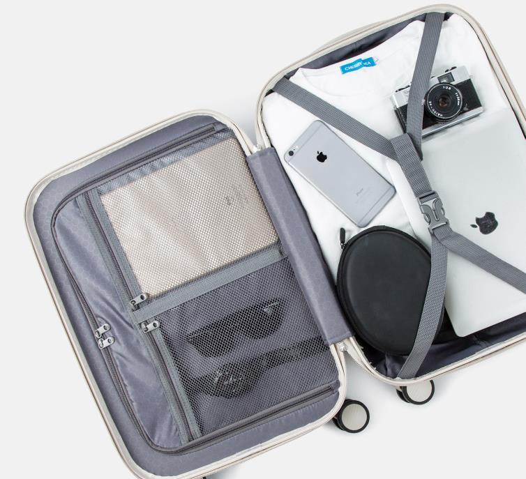 278人気 高級感 スーツケース キャリーケース トラベルバッグ 軽量 静音 ファスナー式 TSAロック搭載 旅行 小型 20インチ_画像2