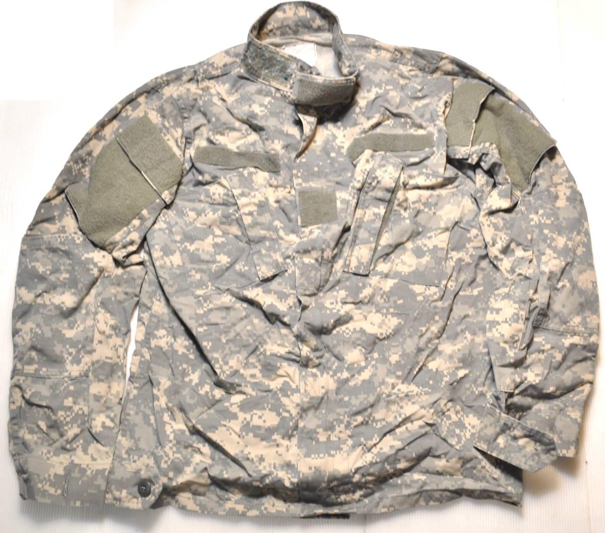 実物 米軍放出品 ACU 陸軍 米陸軍 US ARMY デジタル迷彩 女性兵士用 コンバットジャケット 上着 36-L 戦闘服 BDU D COMBAT JACKET IR_画像1