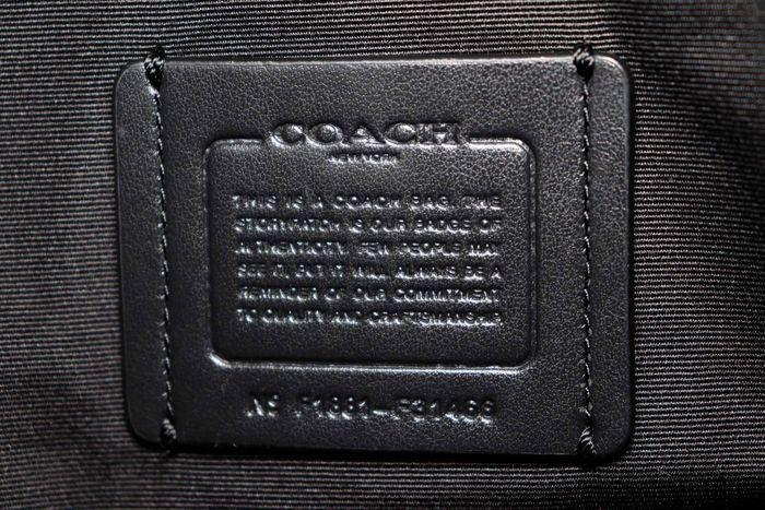使用僅か 新品同様【極美品】コーチ Coach  レザーキャリーオール ハンドバッグ 2WAY ショルダー付き ブラック _画像10