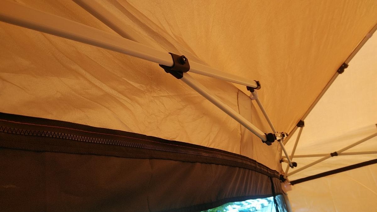 ワンタッチタープ フィールドアー 2.5mx2.5m オレンジ サイドシート付 ワンタッチテント FIELDOOR _画像10