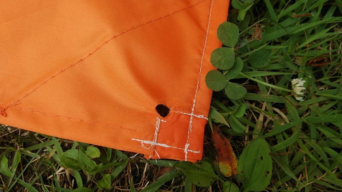 ワンタッチタープ フィールドアー 2.5mx2.5m オレンジ サイドシート付 ワンタッチテント FIELDOOR _画像9