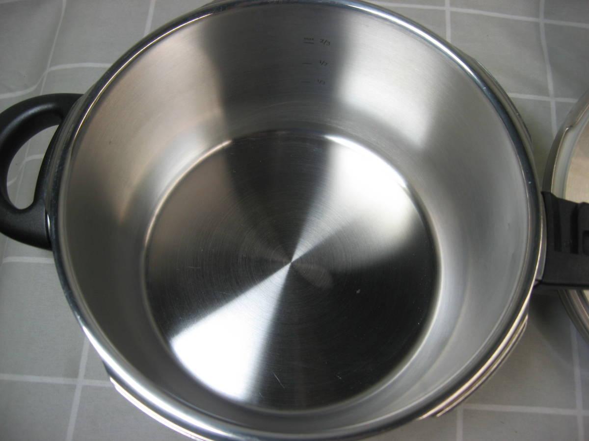 WMF ヴェーエムエフ ドイツ製 ネオパーフェクト圧力鍋 4.5L 綺麗です 送料無料_画像4
