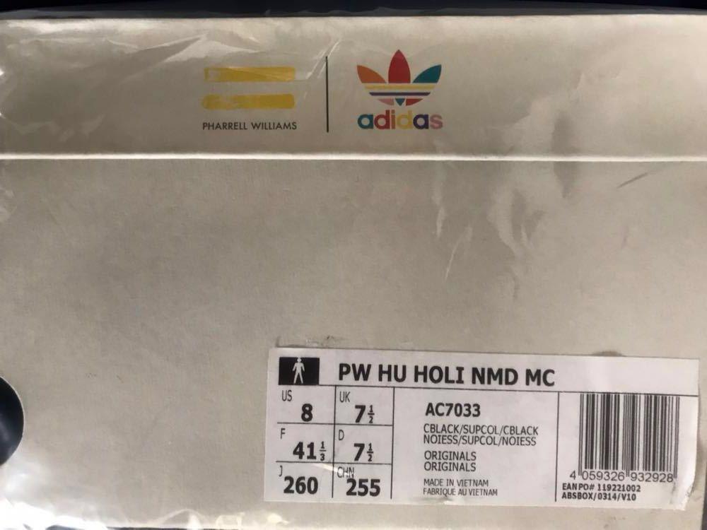 【定価以下】アディダス ファレル ウィリアムス ADIDAS PW HU HOLI NMD MC 26cm AC7033 25 PHARRELL WILLIAMS 19ss supreme tee シール 付 _画像3