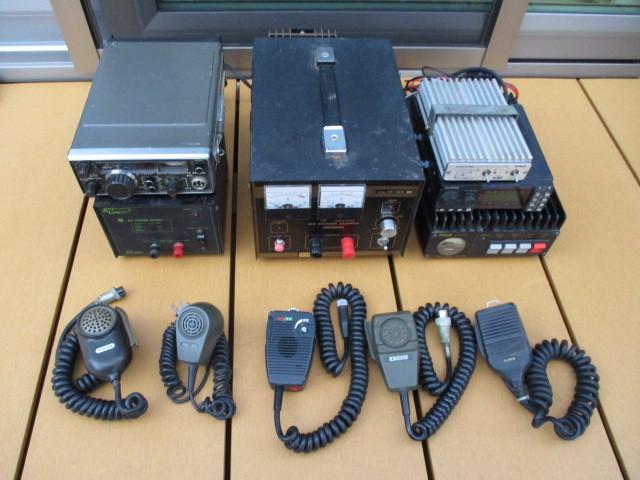 ◆◇古い無線機・安定化電源・マイクなど Sky LARK NP-100/ALINCO ALD-24/他 画像の物まとめて ジャンク◇◆