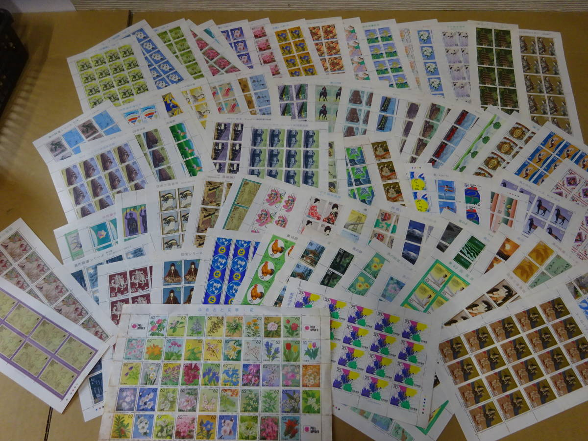 未使用切手大量 バラ 記念切手、歴史切手、国宝切手、動物切手など 総額294500円分 1円~_画像4