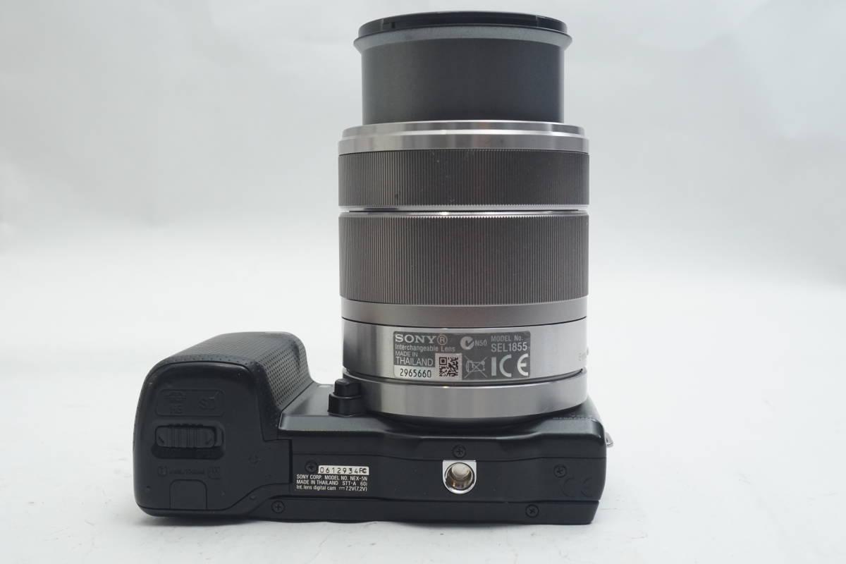 ★極上美品★ SONY NEX-5N SEL1855 E 18-55mm F3.5-5.6 OSS ソニー 標準ズームレンズキット ミラーレスカメラ Eマウント α ブラック_画像7